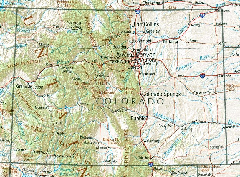 colorado map 0 Colorado Map