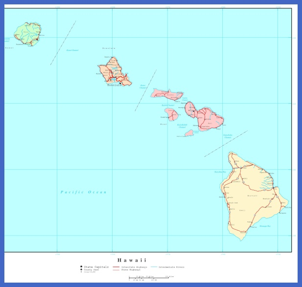 hawaii map  6 Hawaii Map
