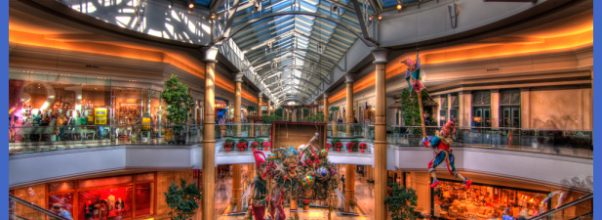 Christmas decorations at Somerset mall. Troy, MI.