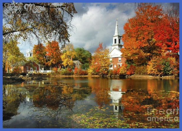 Harrisville New Hampshire - New England Fall Landscape White Steeple ...