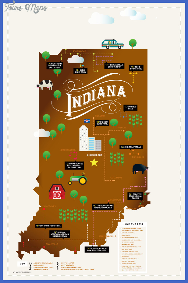 indiana map tourist attractions 2 Indiana Map Tourist Attractions