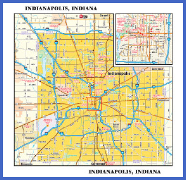indiana metro map  1 Indiana Metro Map