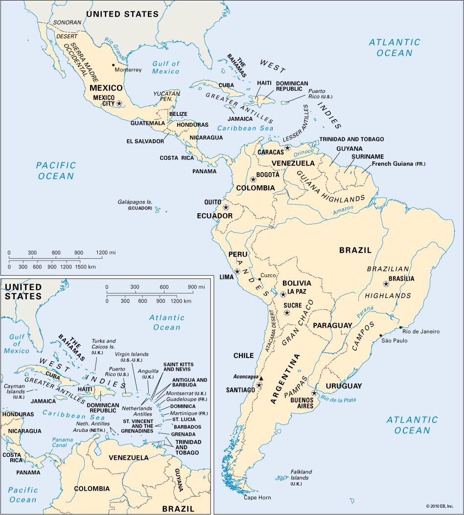 Latin America Map Toursmaps Com