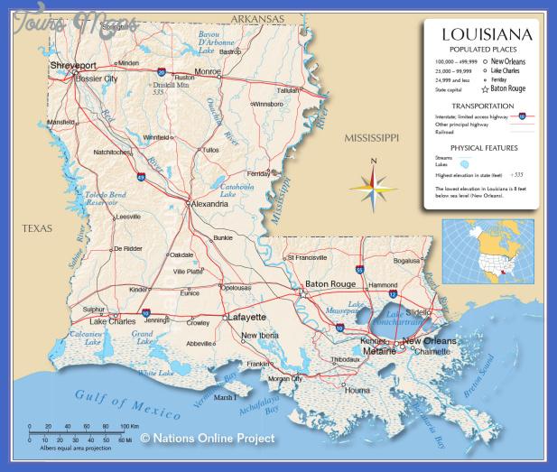 louisiana map 4 Louisiana Map