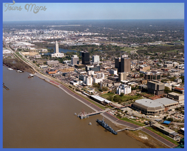 Kirjeldus Baton Rouge Louisiana waterfront aerial view.jpg