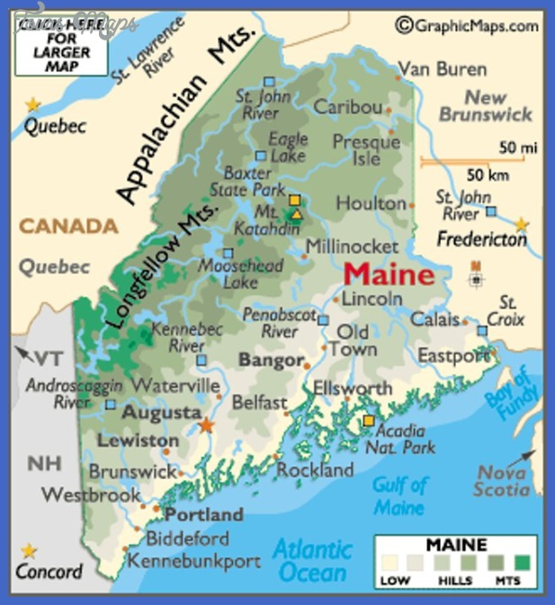 maine map tourist attractions 3 Maine Map Tourist Attractions