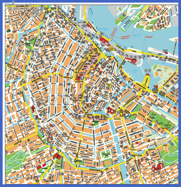 Amsterdam City Tourist Map See map details From www.holidaym.ru