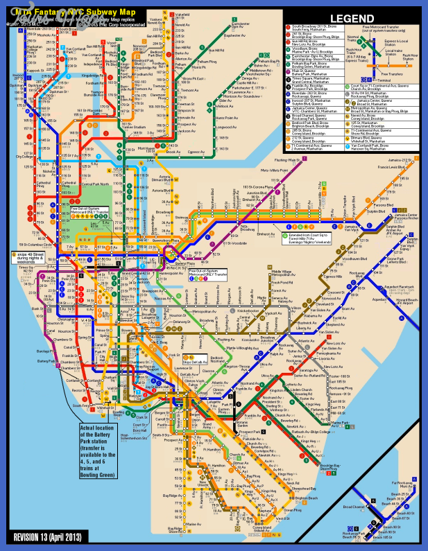 subway map new york map of world