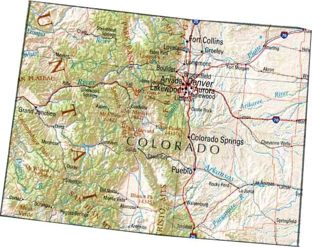 map of colorado 20 Map of Colorado