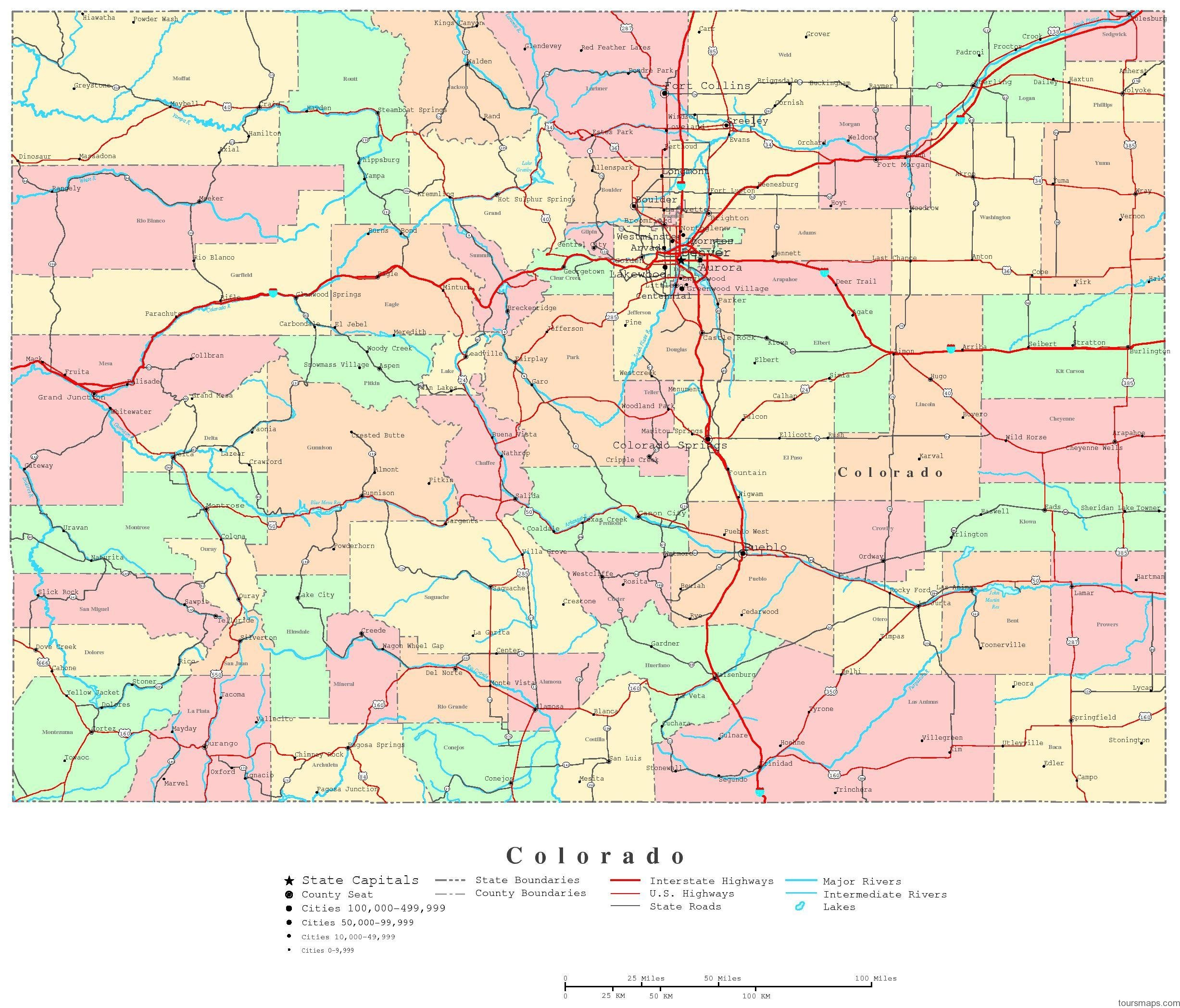 map of colorado 23 Map of Colorado