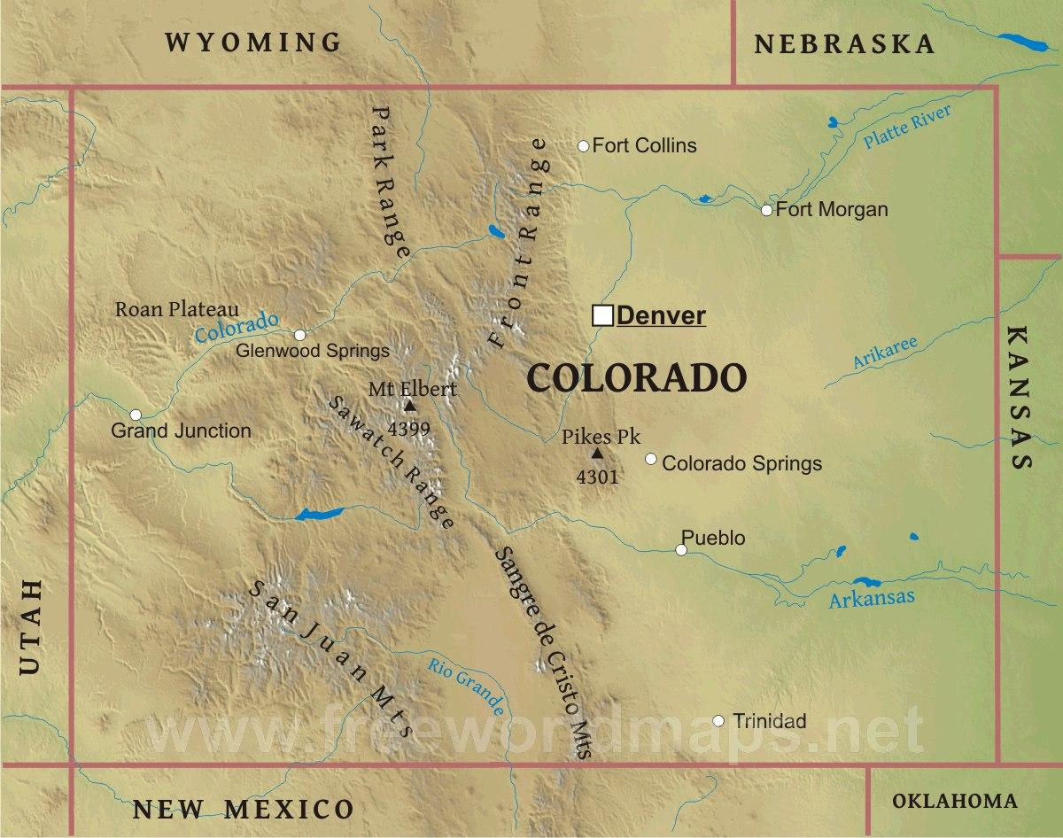 map of colorado 44 Map of Colorado