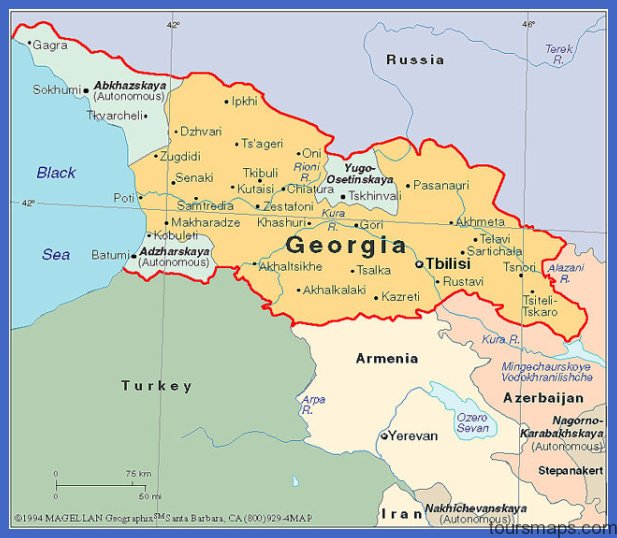 Map Republic Of Georgia.Map Republic Of Georgia Archives Toursmaps Com