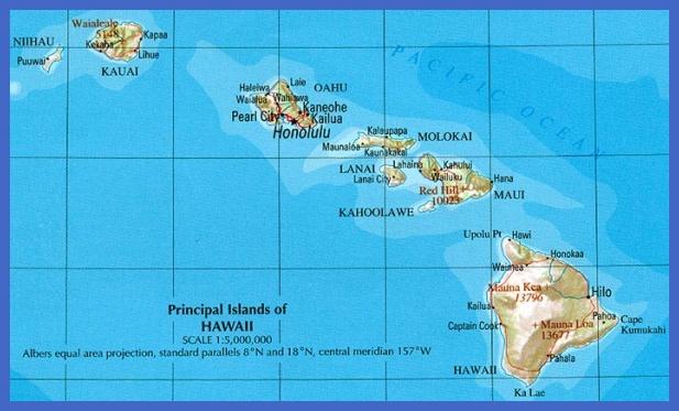 map of hawaii 2 Map of Hawaii