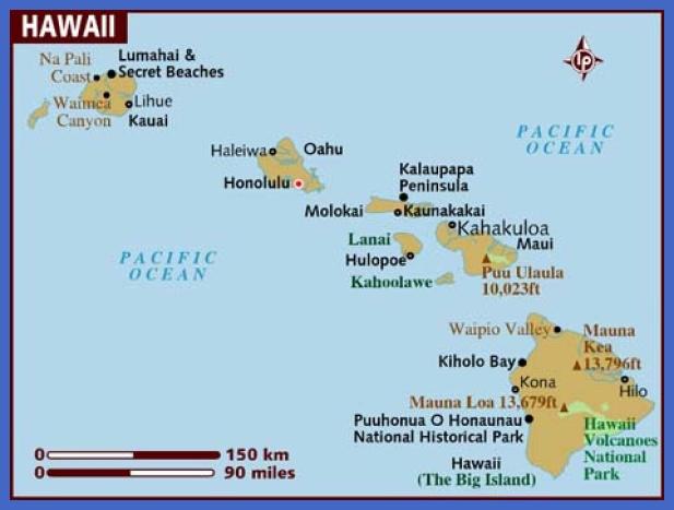 map of hawaii 7 Map of Hawaii