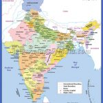 Large Color Map of India