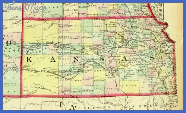 1872 Map of KANSAS