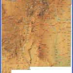 Detailed New Mexico Map - NM Terrain Map