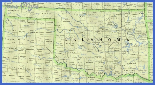 map of oklahoma 5 Map of Oklahoma