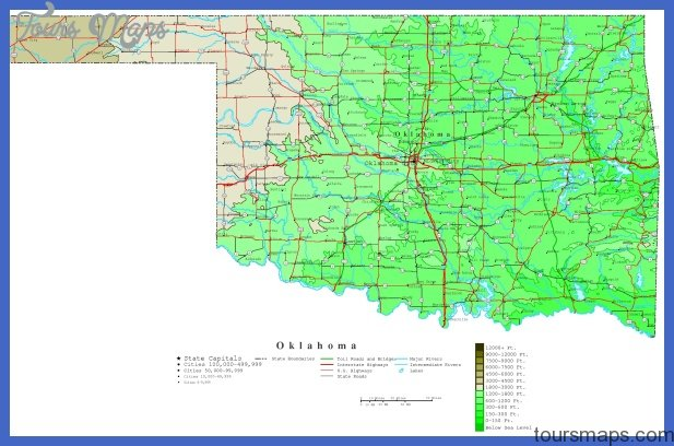 map of oklahoma 7 Map of Oklahoma