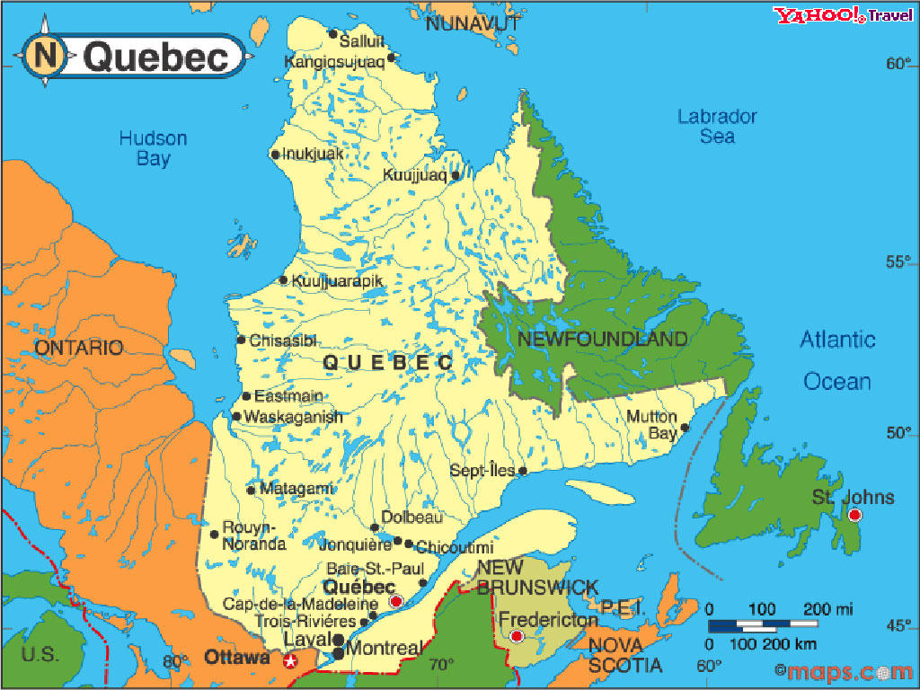 map of quebec 1 Map of Quebec