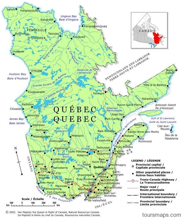 map of quebec 2 Map of Quebec