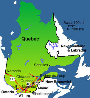 map of quebec 7 Map of Quebec