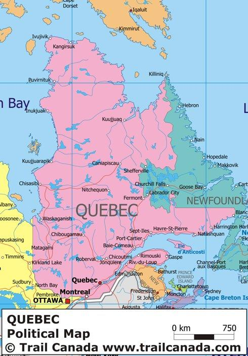 map of quebec 8 Map of Quebec