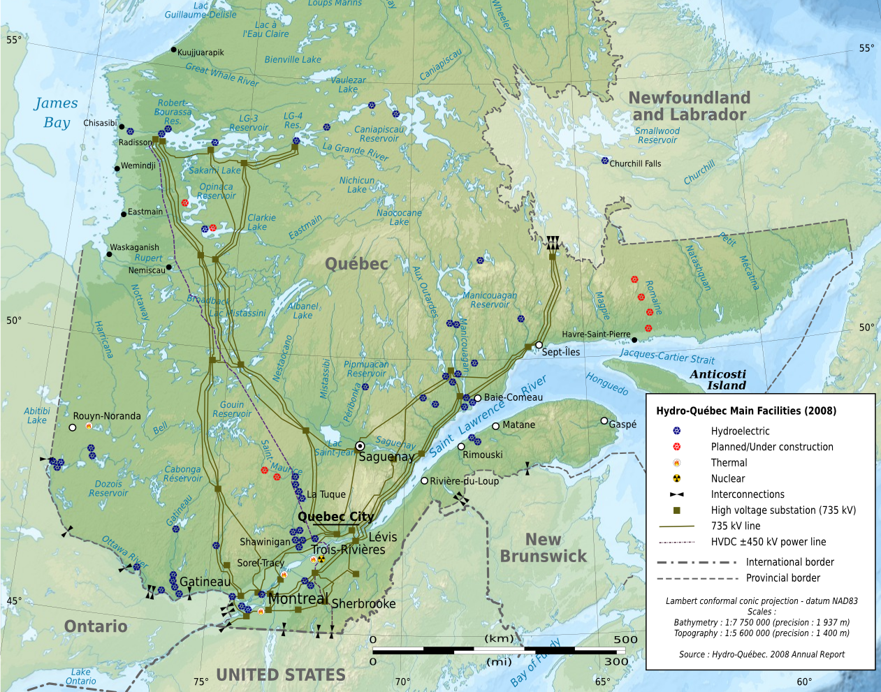 map of quebec 9 Map of Quebec