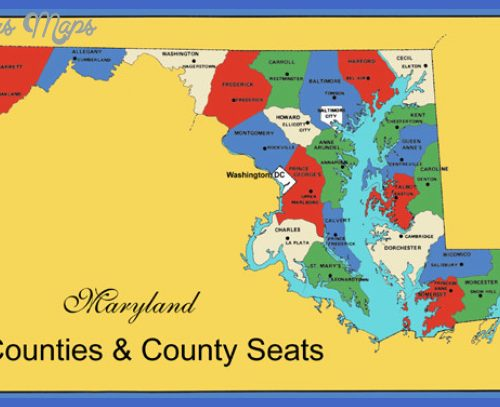 Maryland Counties Map - Counties & County Seats