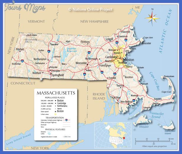 massachusetts map 1 Massachusetts Map