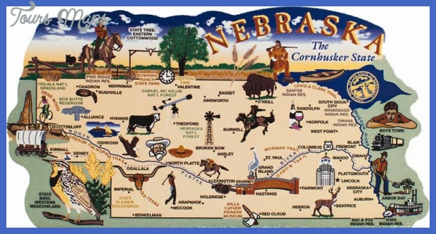 Nebraska Map Tourist Attractions ToursMapsCom – Tourist Attractions Map In Nebraska