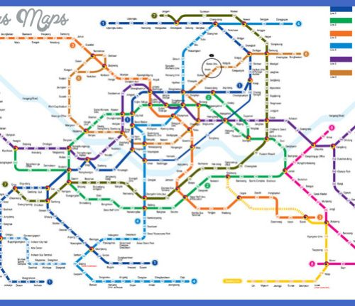 Subway Map of Metropolitan Seoul.