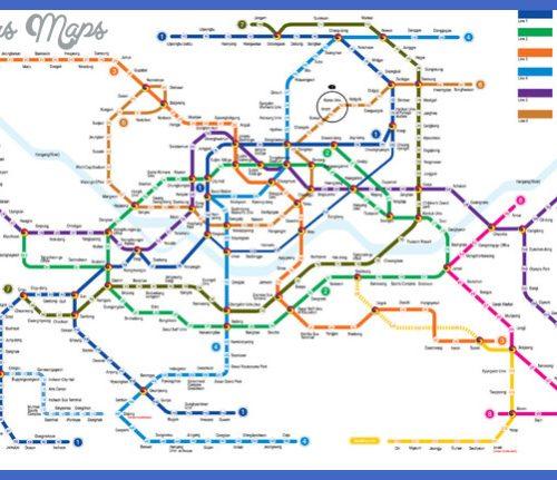 Subway Map of Metropolitan Seoul.