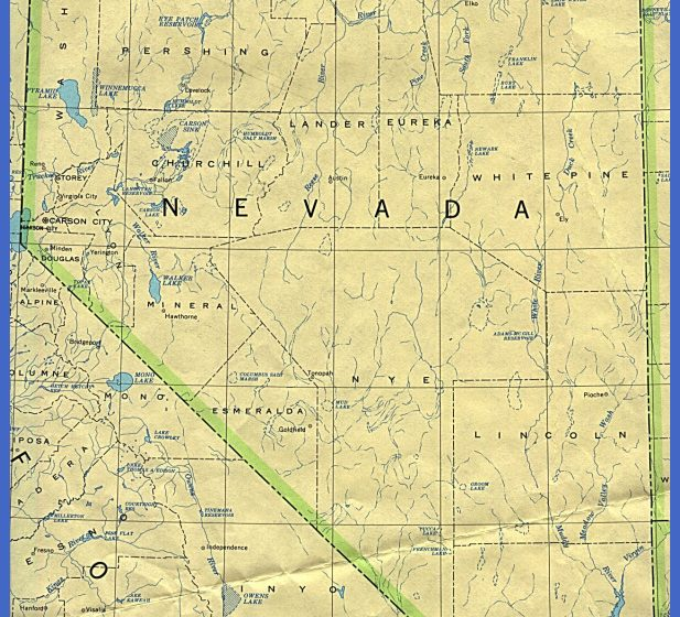 nevada county map hotel road map official state site university ...