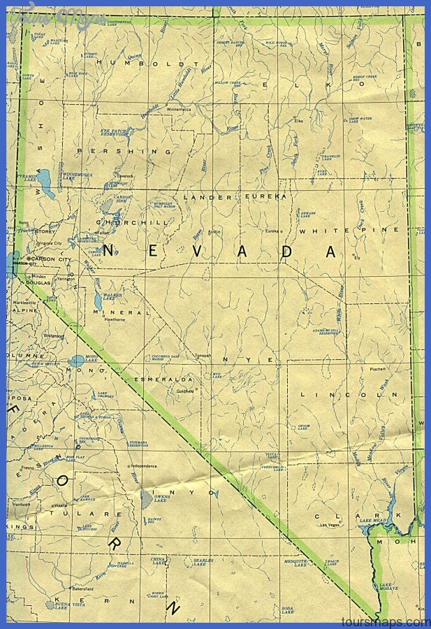 Nevada Map Tourist Attractions ToursMapsCom – Nevada Tourist Attractions Map