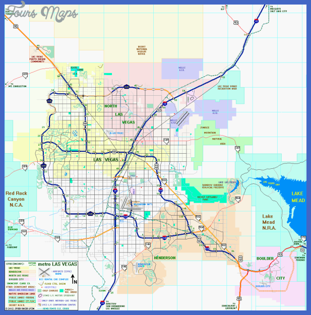 Nevada Metro Map ToursMapscom