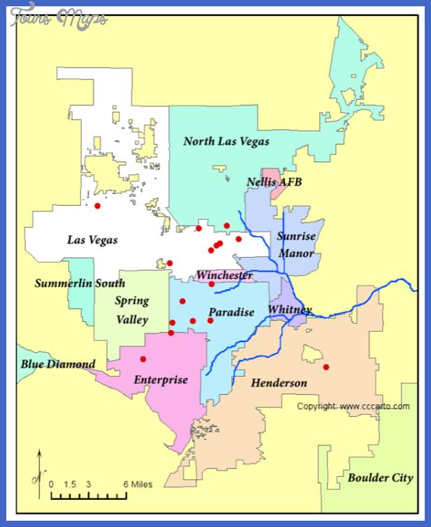 Las Vegas Metro Police Dept. Stations Map.