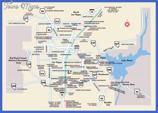 Las Vegas Surrounding Areas Nevada Map - Las Vegas NV • mappery