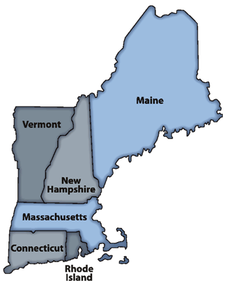 New England Map - ToursMaps.com ®