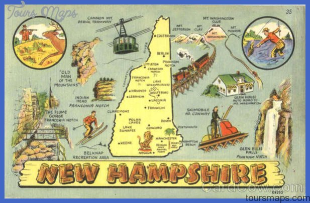 new hampshire map tourist attractions 2 New Hampshire Map Tourist Attractions