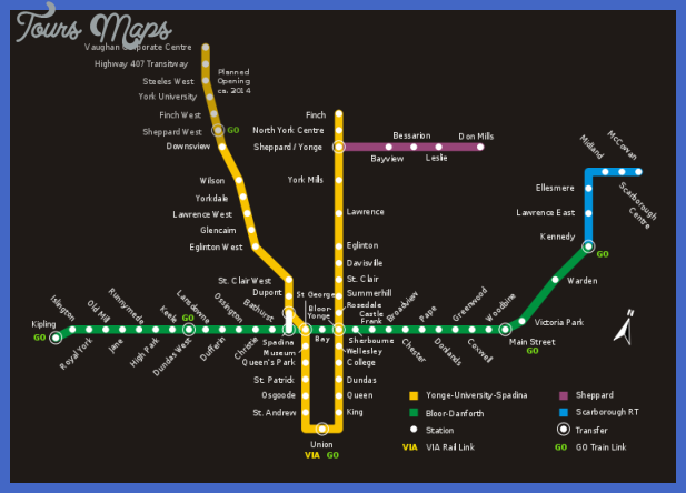 Toronto subway map with streets Index of /