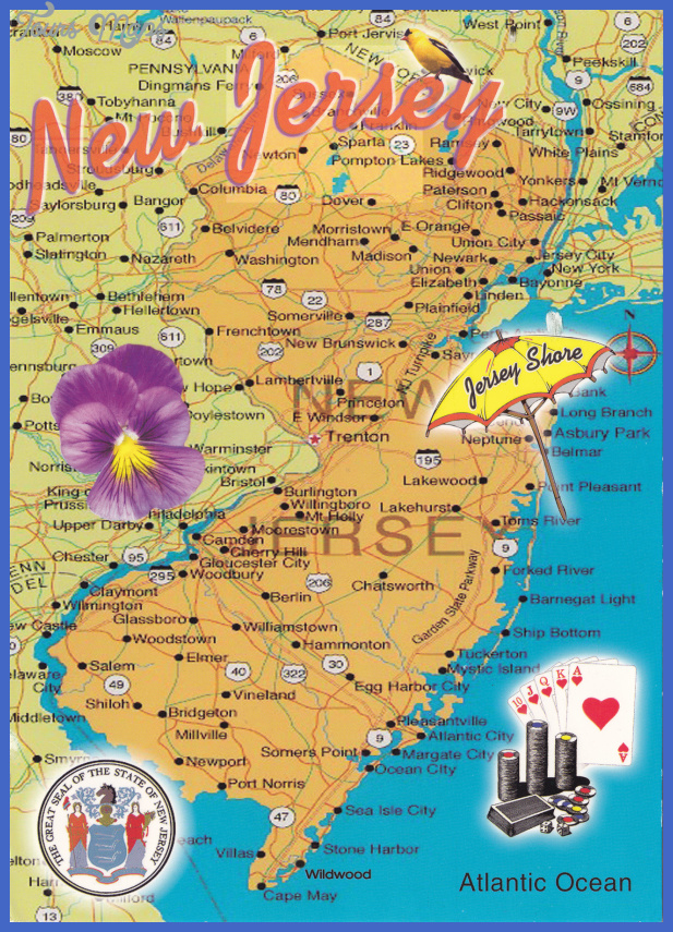 New Jersey Mapjpg Map Travel Holiday Vacations - New jersery map