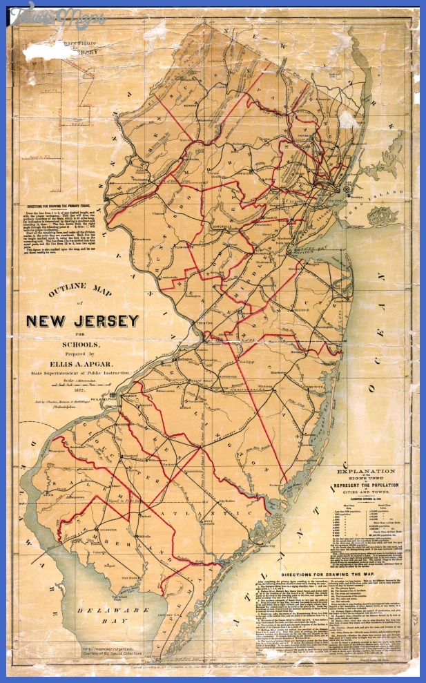 new jersey map 7 New Jersey Map