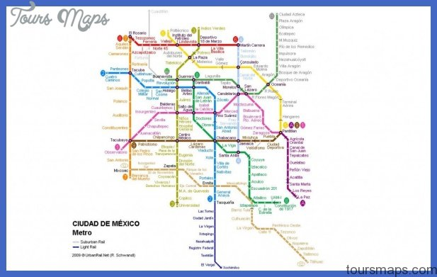 Mexico City Subway Map