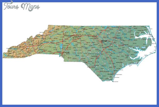north carolina map 2 North Carolina Map