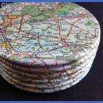 North Carolina map coasters Asheville by JonathonWayneDesign, $21.10