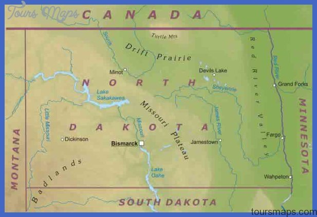 North Dakota Map Tourist Attractions ToursMapsCom – North Dakota Tourist Attractions Map