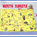 Large tourist illustrated map of North Dakota state | Vidiani.com ...