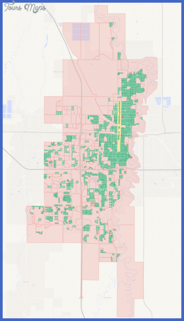 map of city blocks in Fargo, North Dakota ( Click here for full map ...