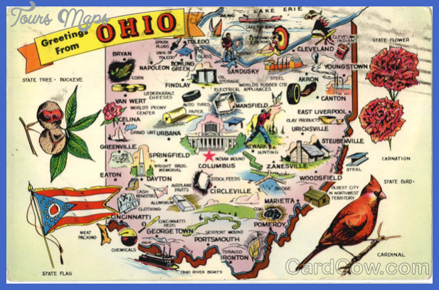 Ohio Map Tourist Attractions ToursMapsCom – Tourist Attractions Map In Ohio